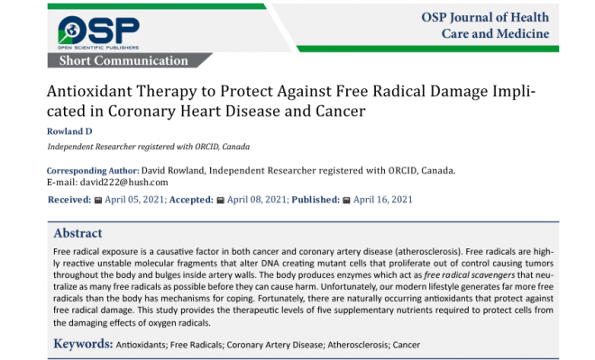 Antioxidant Therapy for Coronary Heart Disease and Cancer